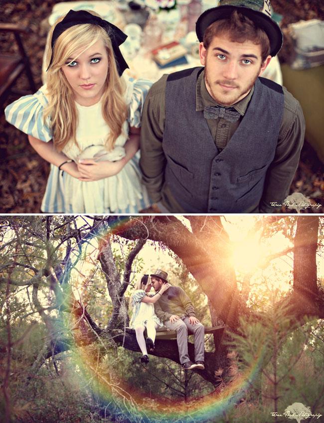 wonderland engagement photos 12 Under the Veil of a Fairytale