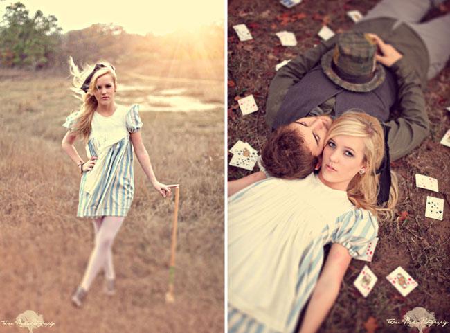 wonderland engagement photos 15 Under the Veil of a Fairytale
