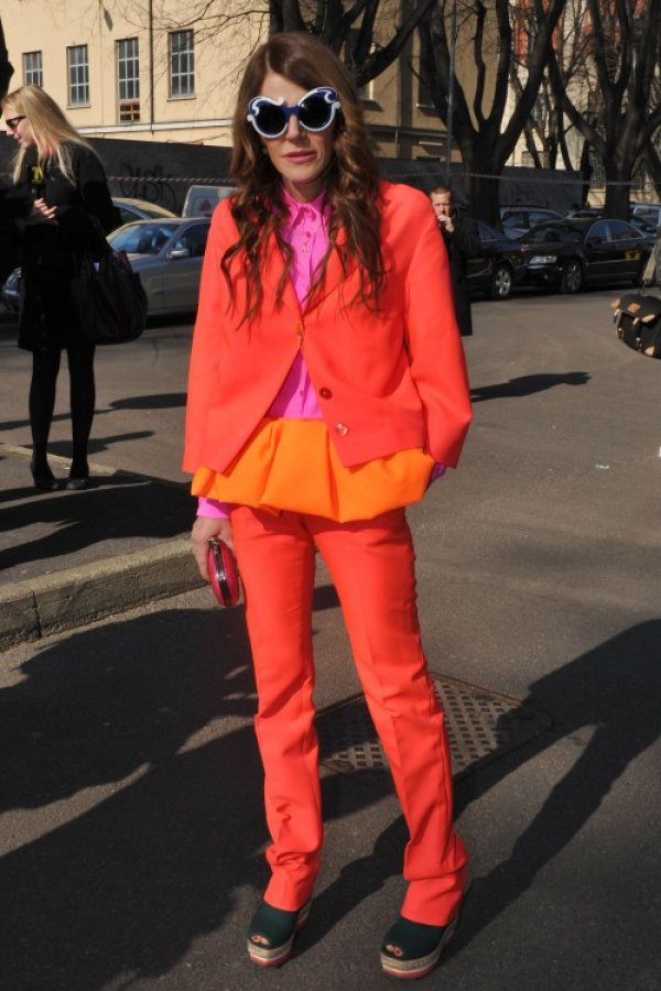 anna dello russo orange Anna Dello Russo: modni manijak
