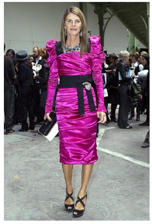 zipzip anna dello russo pink dress Ikona stila: Anna Dello Russo