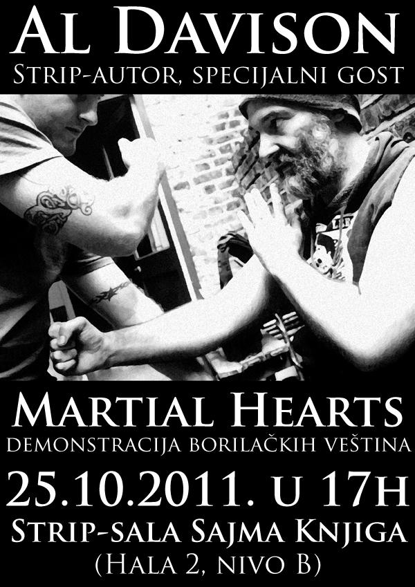 al davison martial hearts plakat copy Beogradski Sajam knjiga: poziv na dešavanja u Strip sali