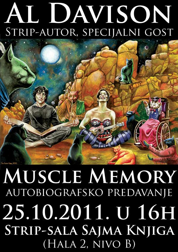 al davison muscle memory plakat copy Beogradski Sajam knjiga: poziv na dešavanja u Strip sali