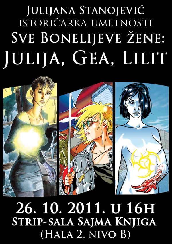 julija gea lilit plakat v2 Beogradski Sajam knjiga: poziv na dešavanja u Strip sali