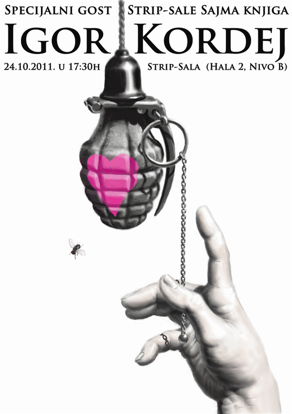 kordej plakat copy Beogradski Sajam knjiga: poziv na dešavanja u Strip sali