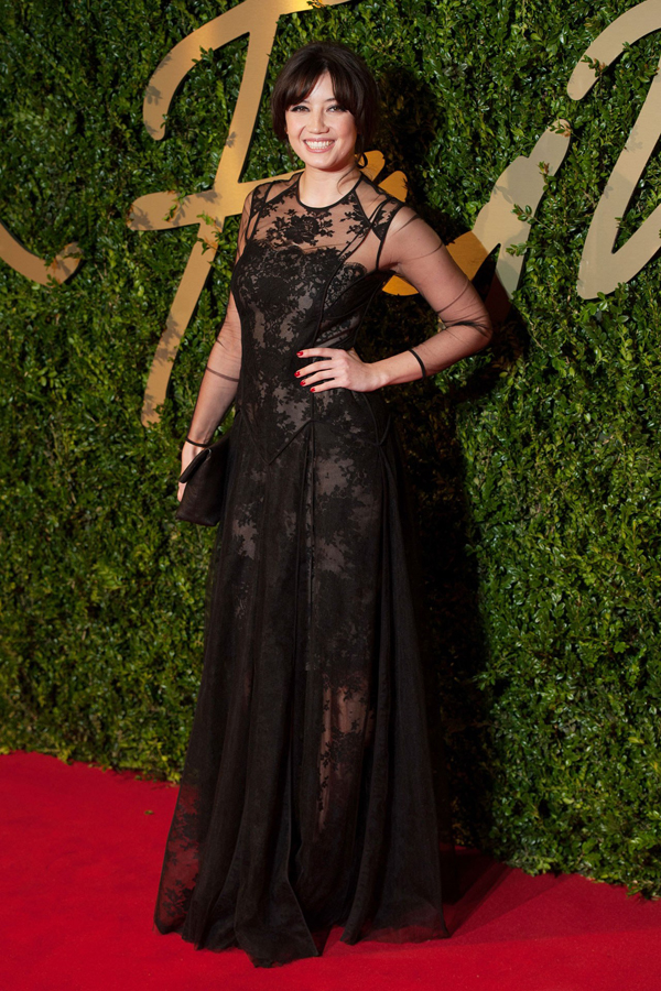 daisy lowe bfa vogue 2dec13 wen b Fashion Police: British Fashion Awards 2013