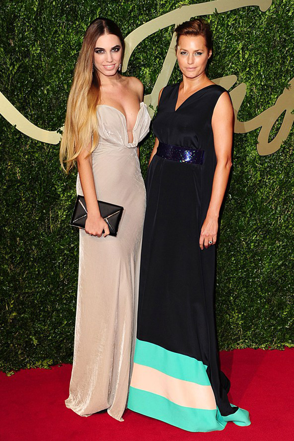 yasmin le bon amber le bon bfa vogue 2dec13 pa b 592x888 Fashion Police: British Fashion Awards 2013