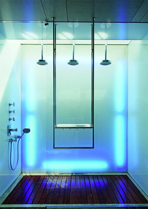 color changing bathroom design Lokacija kao efektan aksesoar