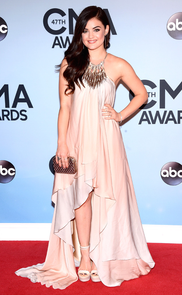 rs 634x1024 131106161025 634 lucy hale cma awards nashville ms  110613 Fashion Police: CMA Awards 2013