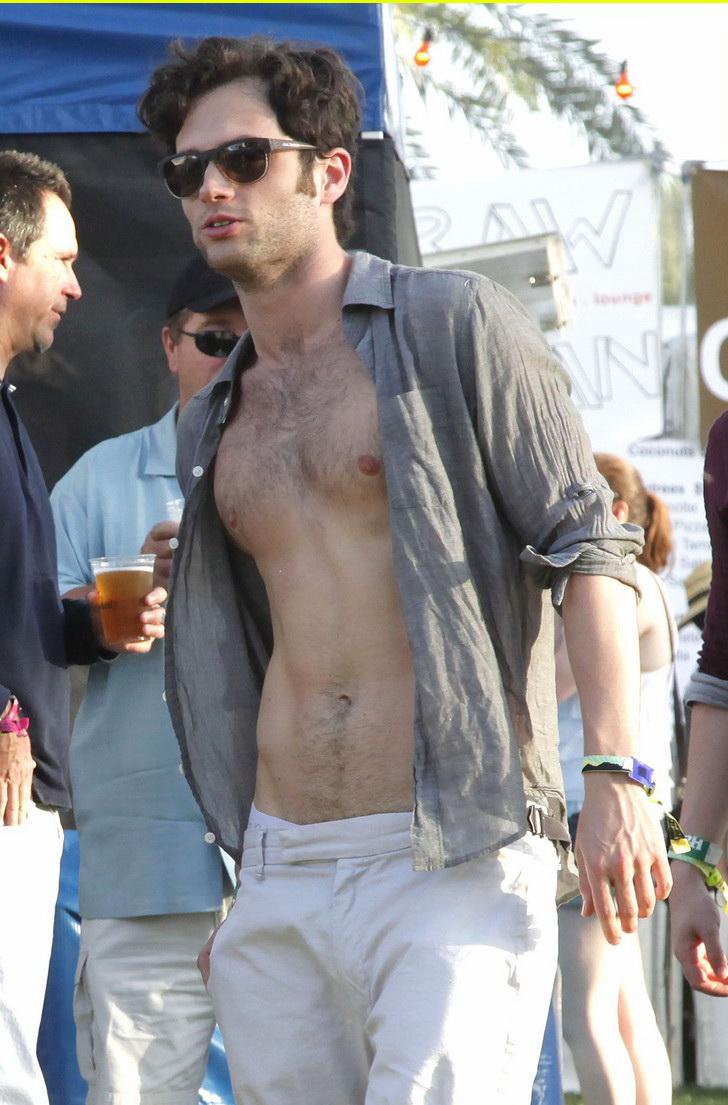 penn badgley shirtless coachella 04 The Coachella 2011.