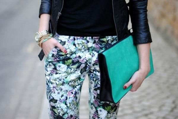 slika 13 Cvetne pantalone