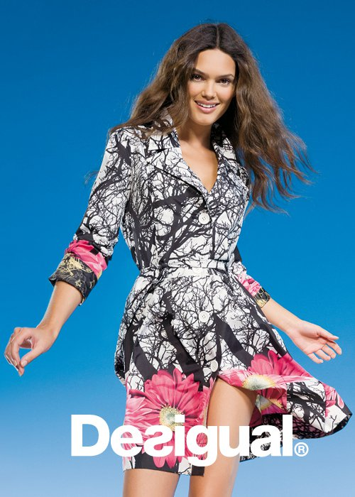 desigual more for less spring 2011collection coat trench flowers white Be DESIGUAL proleće/leto 2011.