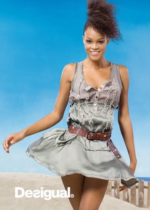 desigual more for less spring 2011collection ruffles gray belt dress Be DESIGUAL proleće/leto 2011.