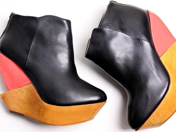 finsk black pink wedge boot 312 FINSK shoes