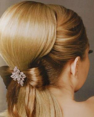 wedding hairstyle ponytail1 Frizure za najlepši dan