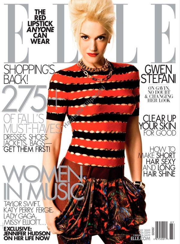 elle usa 2009 july 00 Hollywood Red Lips: Gwen Stefani
