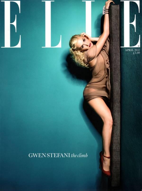 gwen stefani abril elle Hollywood Red Lips: Gwen Stefani
