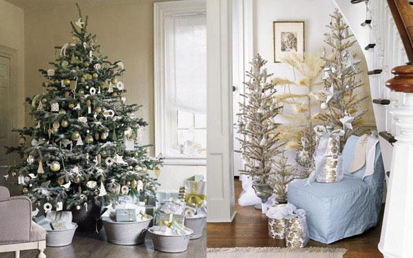 white christmas tree Inspiracija za jelku