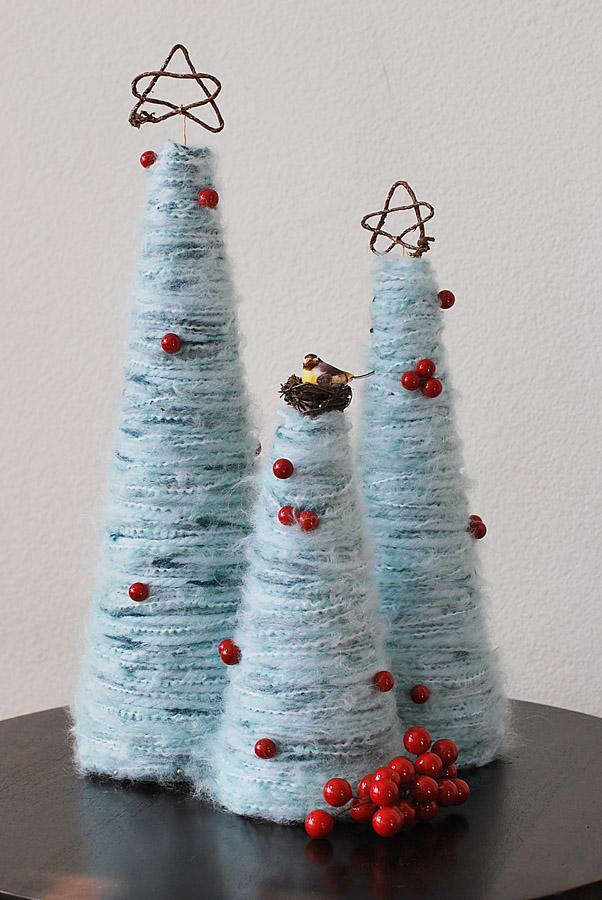 yarn christmas tree Inspiracija za jelku