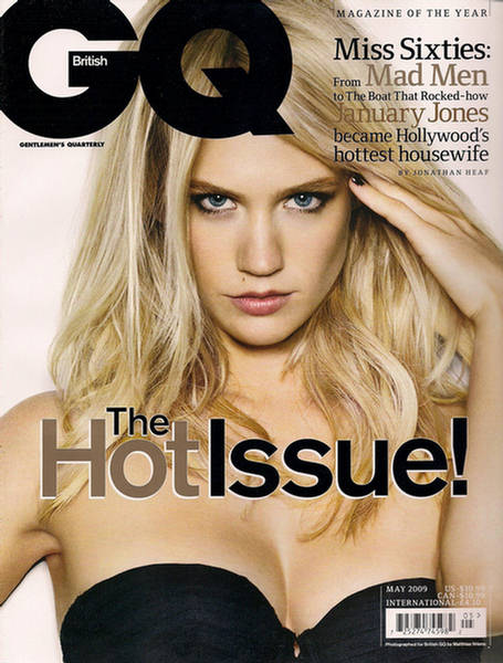 january jones gq magazine may 1 She makes men go mad!