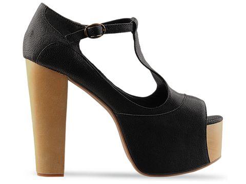 jeffrey campbell shoes foxy wood black kidskin 010604 Jeffrey Campbell manija
