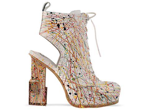 jeffrey campbell shoes mildred paint white 010604 Jeffrey Campbell manija