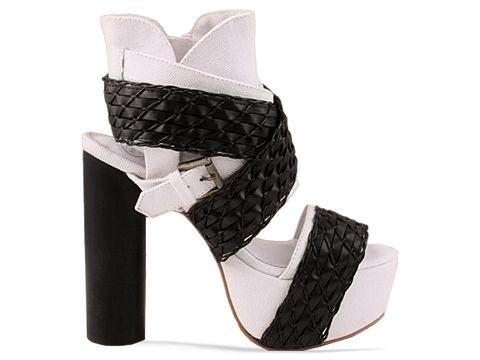 jeffrey campbell shoes so much white black 010604 Jeffrey Campbell manija