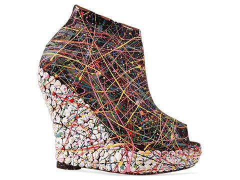 jeffrey campbell shoes tick paint black 010604 Jeffrey Campbell manija