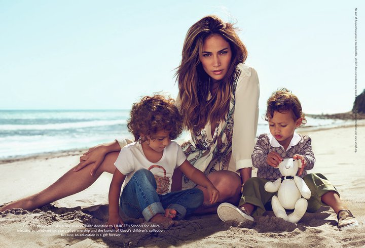 gucci unveils advertising campaign featuring jennifer lopez for launch of new childrens collection Jennifer Lopez