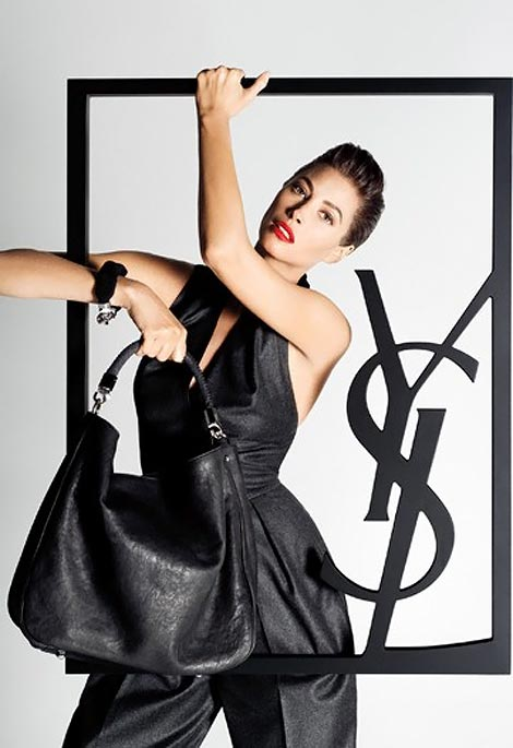 christy turlington ysl fall winter 2009 ad Christy Turlington
