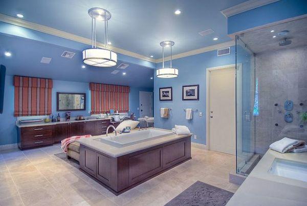 kupatilo je ok ali kombinacija tamnog drveta i plave boje se ne uklapa najbolje Kuće poznatih: Mark Valbergova kuća se prodaje