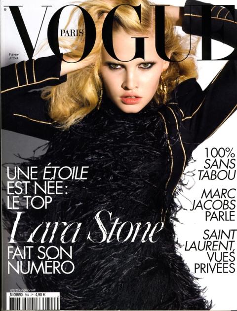 lara stone for vogue paris february 2009 Lara Stone