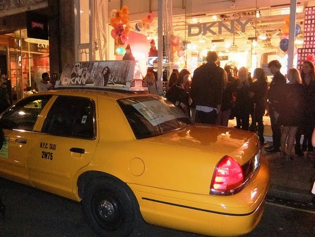 dkny yellow cab Vogue Fashion`s Night Out London