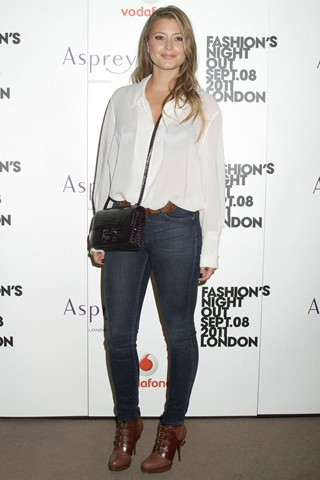 holly valance Vogue Fashion`s Night Out London