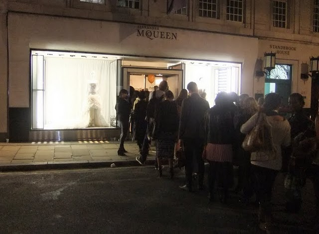 mcqueen Vogue Fashion`s Night Out London
