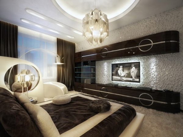 luxurious and comfy brown bedroom1 665x498 Luxury Vintage Apartment