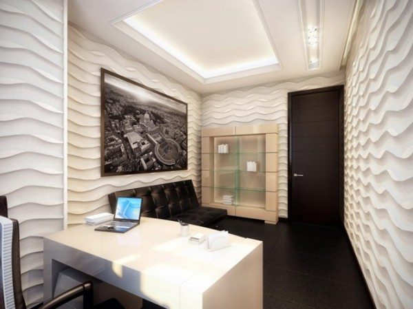 white and black office 21 665x498 Luxury Vintage Apartment