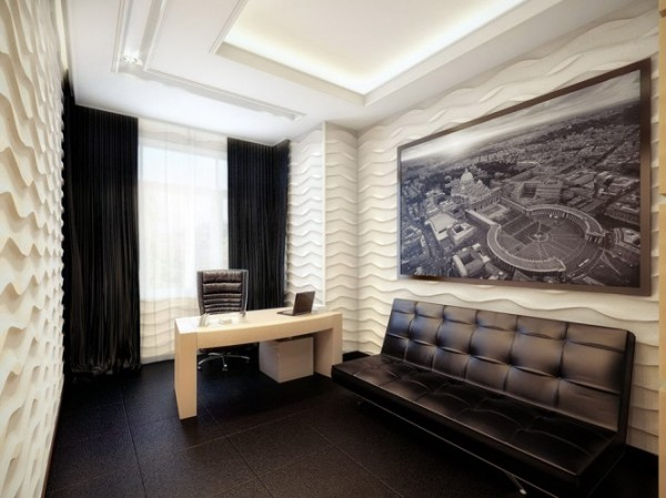 white and black office1 665x498 Luxury Vintage Apartment