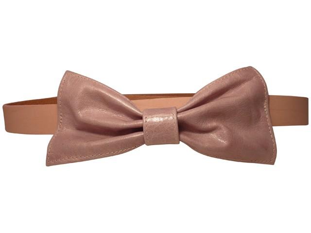 nude pink leather bow belt Mašne i mašnice
