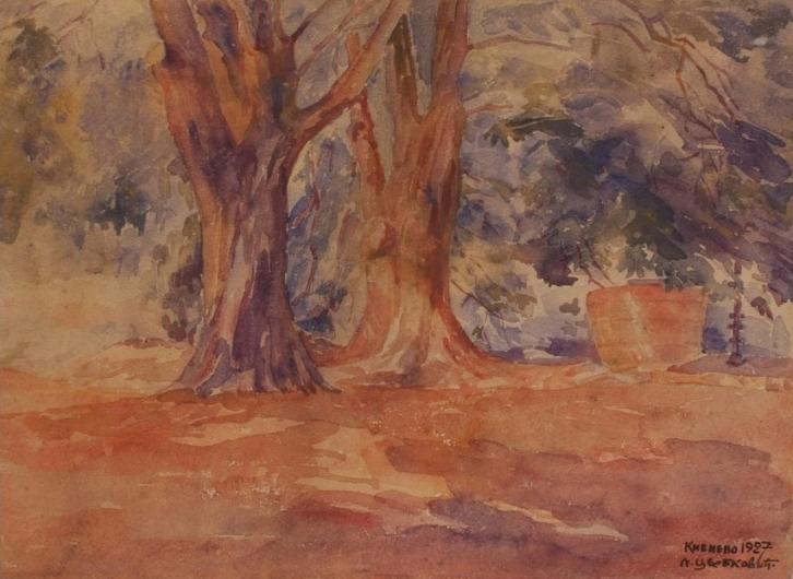 natalija cvetkovic dva stabla akvarel1928 Ljudi koji su pomerali granice: Natalija Cvetković