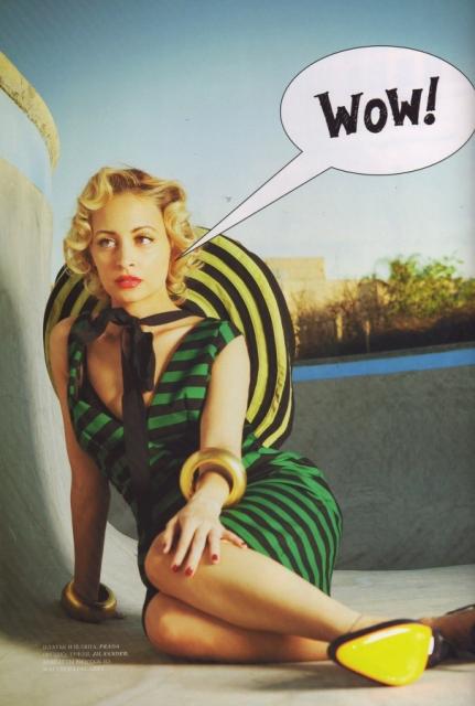 nicole richie Nicole Richie za ruski Harper's Bazaar