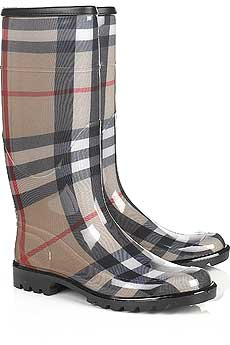 burberry checked wellington boots Rain boots