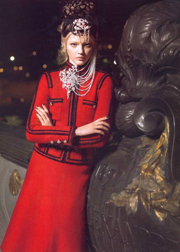 chanel Manekenka za primer: Sasha Pivovarova