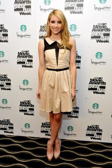 emma roberts peter pan collar Moda Holivuda: Trend izveštaj