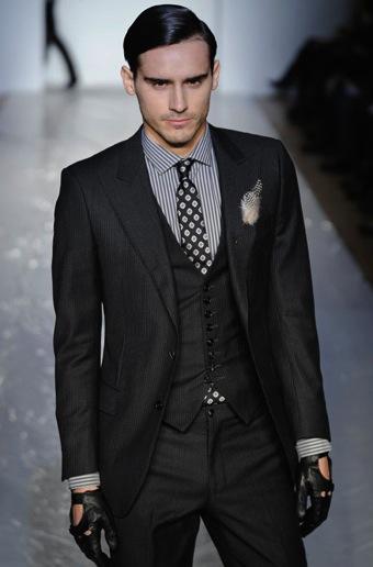three piece suit spurr grey Trodelno odelo: muški modni trend za jesen zimu 2010/11
