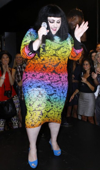 beth ditto Vogue Fashions Night Out New York