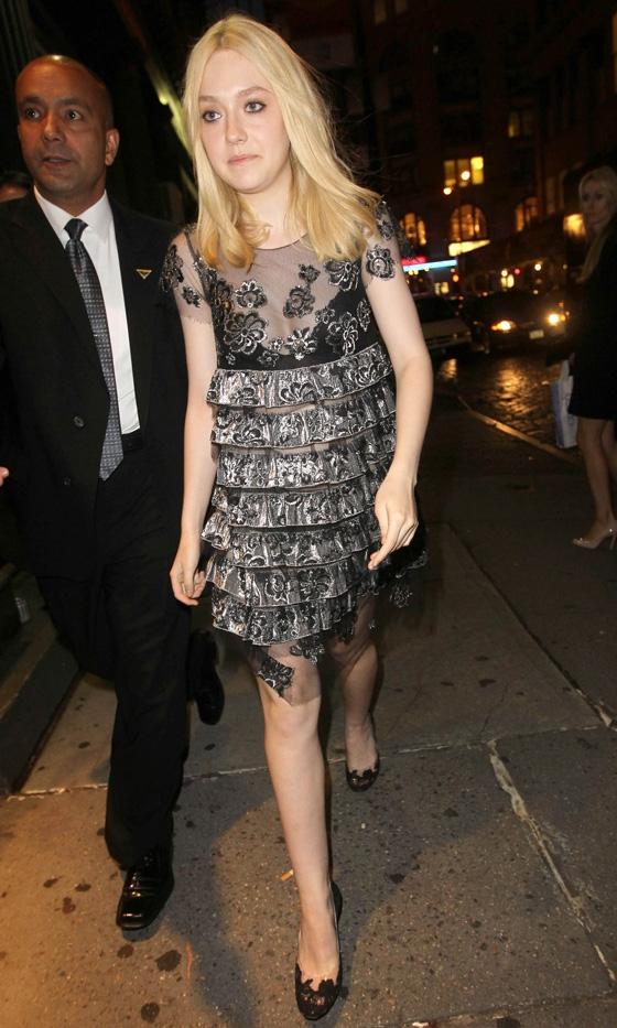 dakota fanning Vogue Fashions Night Out New York
