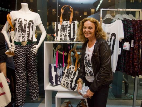 diane von furstenberg Vogue Fashions Night Out New York