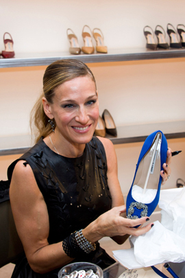 sjp at manolo blahnik Vogue Fashions Night Out New York