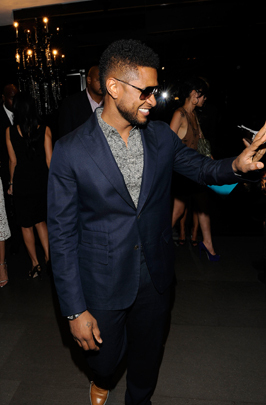 usher Vogue Fashions Night Out New York
