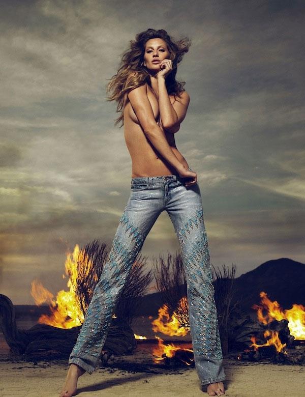 GiseleBundchenToplessCavalli1 Cavalli reklamna kampanja jesen 2010